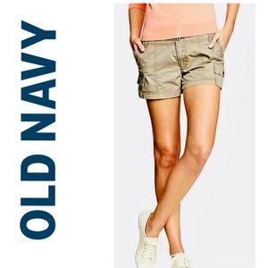 Women's Cargo Green Shorts